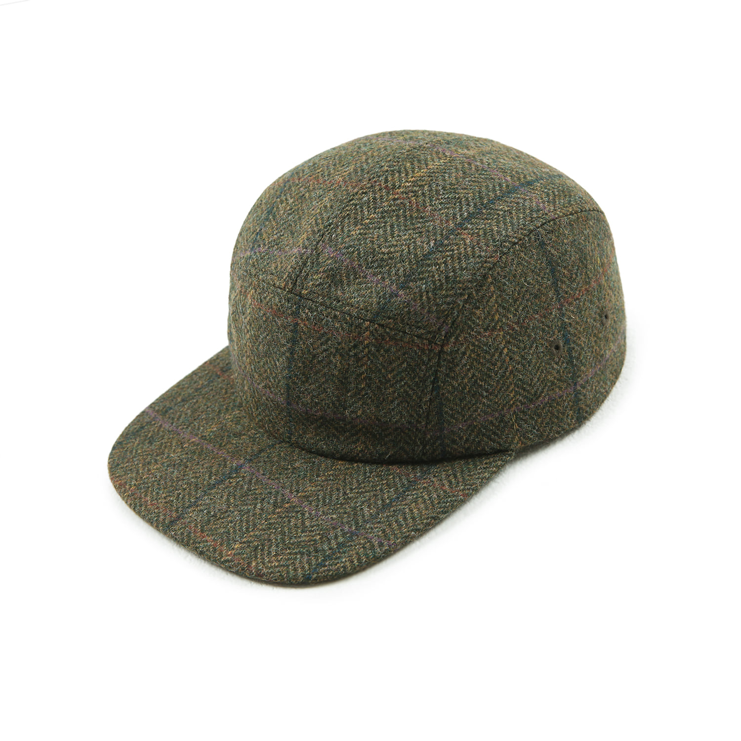 25% OFF_Moon Tweed Camp Cap (Olive)