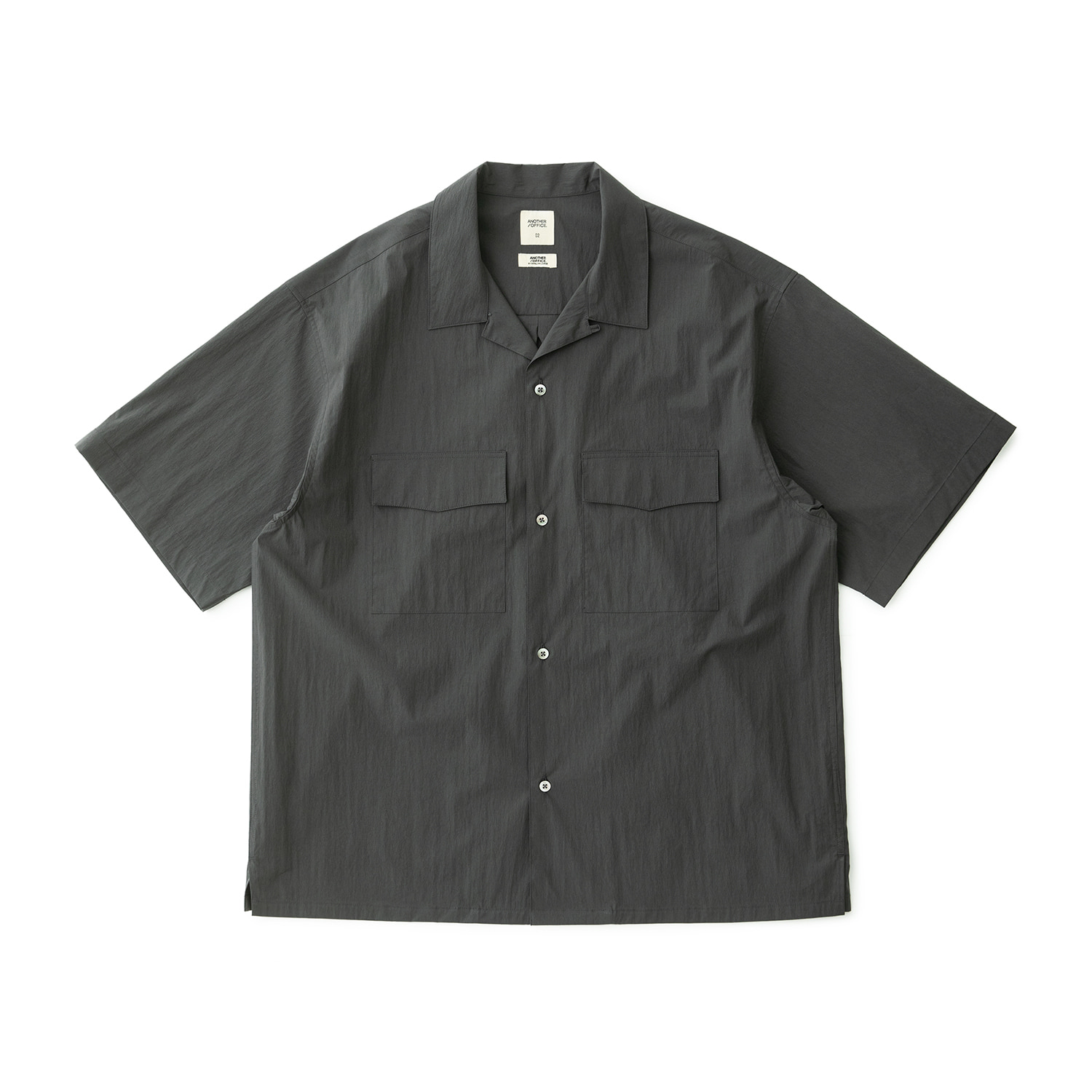 Voyager Open Collar Shirt (Graphite)