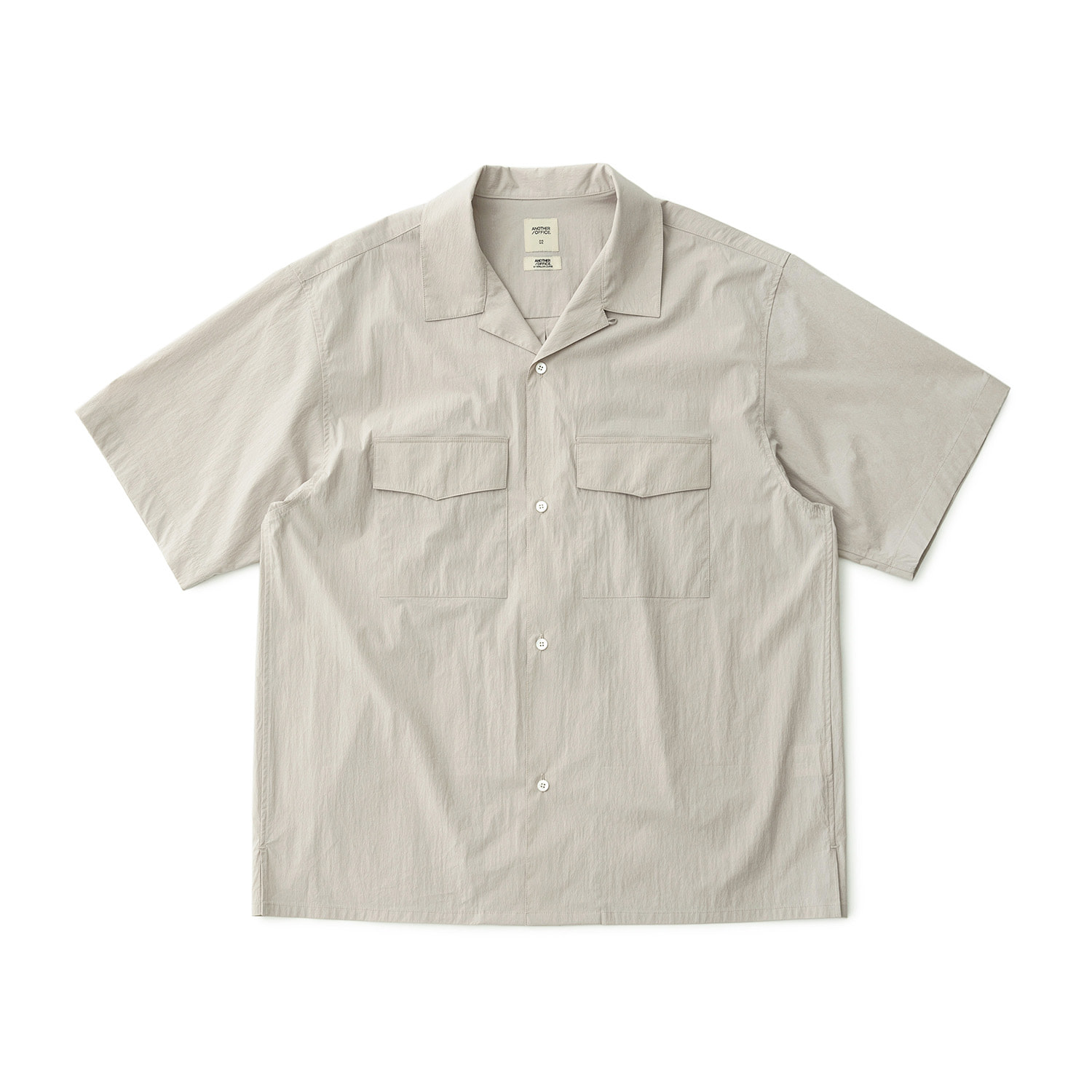 Voyager Open Collar Shirt (Oatmeal)