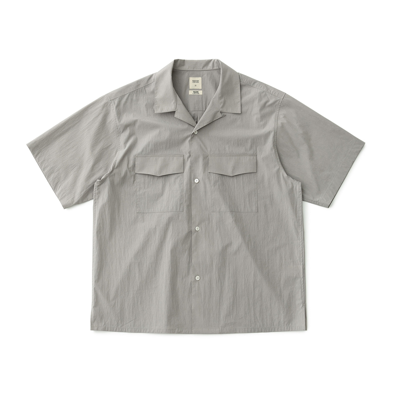 Voyager Open Collar Shirt (Misty Gray)